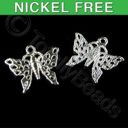 Silver Charms - Butterfly 19mm