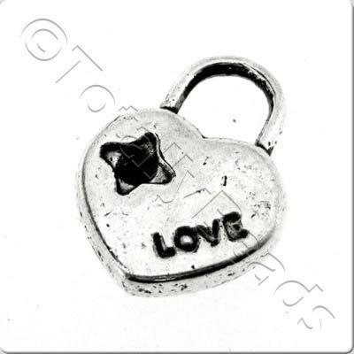 Tibetan Silver Charm - Love Locket
