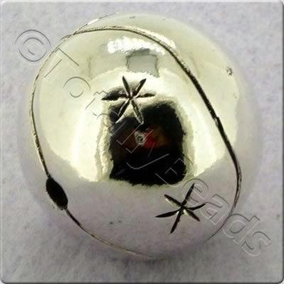 Acrylic Antique Silver Bead - Round 27mm