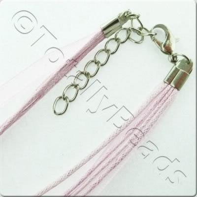 Organza Necklace Cord - Pink
