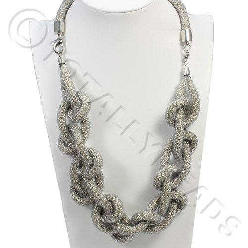 Loop Mesh Necklace - Silver