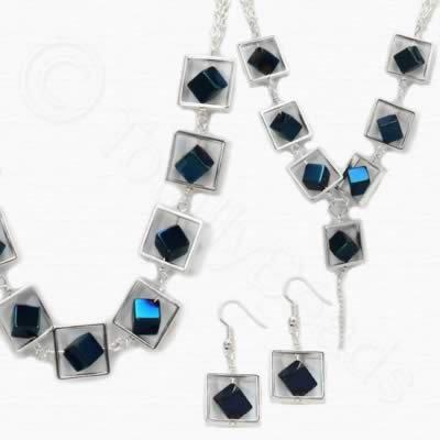 Sadie Necklace Kit - Blue Plated