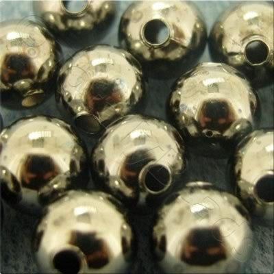 Spacer Beads - Black Plated - 12mm