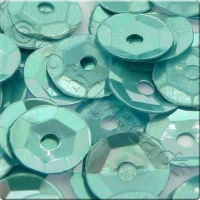 Sequins - 6mm Cup - Metallic Aqua