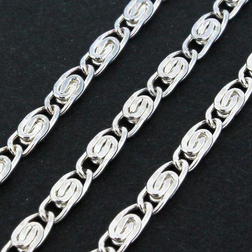 Chain Silver Plated - Valentino 6.5x2.5mm