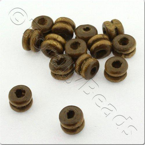 Wooden Bead - Barrel 7mm Dark 300pcs