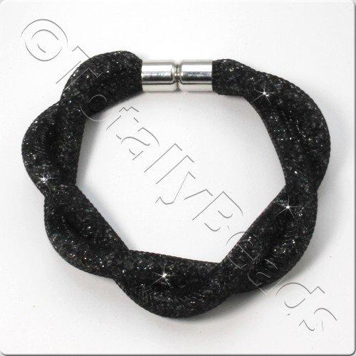 Sparkle Mesh Bracelet Kit - Black Diamond
