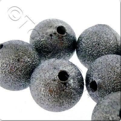 Stardust Beads - Black - 4mm