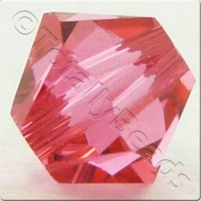 Swarovski 4mm Xilion Bicone - Indian Pink