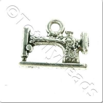 Tibetan Silver Charm - Sewing Machine