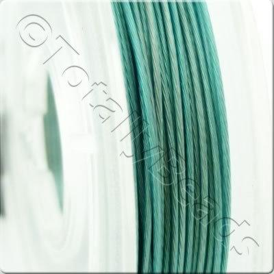 Tigertail Wire 0.45mm - Metallic Turquoise - 10m
