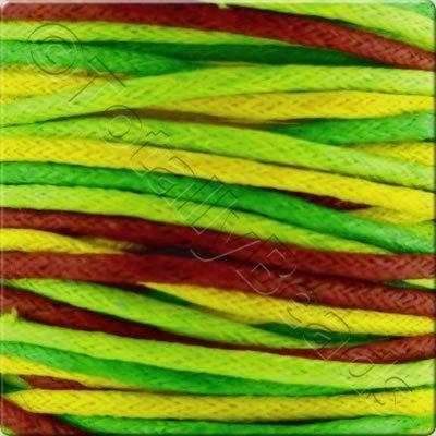 Wax Cotton Cord (1.5mm) Mix - 4x2 metres - Spring