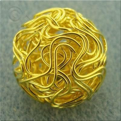 Single Wire Bead - Round 20mm - Gold