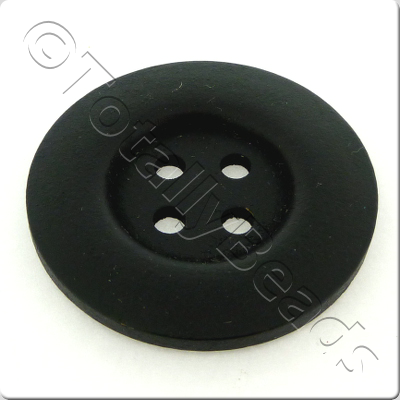 Wooden Button 50mm - Black