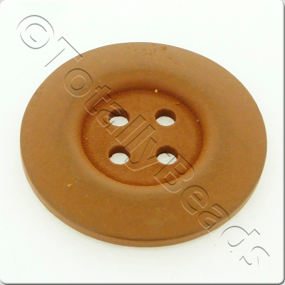 Wooden Button 50mm - Coffee