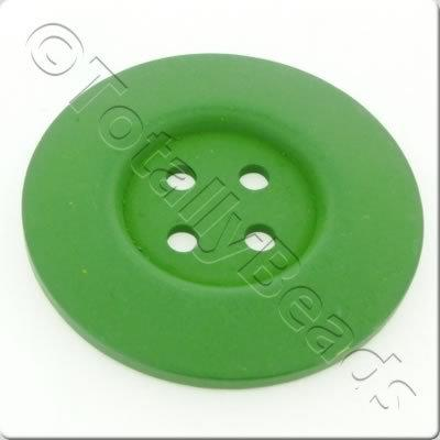 Wooden Button 60mm - Green