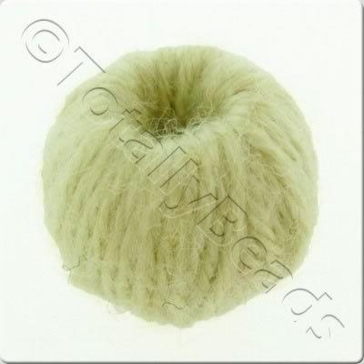 Wool Bead 22mm - Ivory