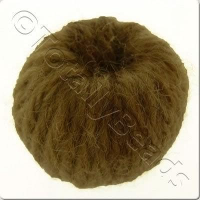 Wool Bead 22mm - Walnut