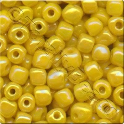 Seed Beads Opaque Rainbow  Yellow - Size 8