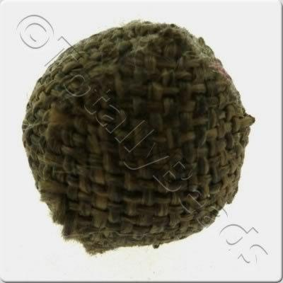 Weaved Hatch Bead - Dark Brown