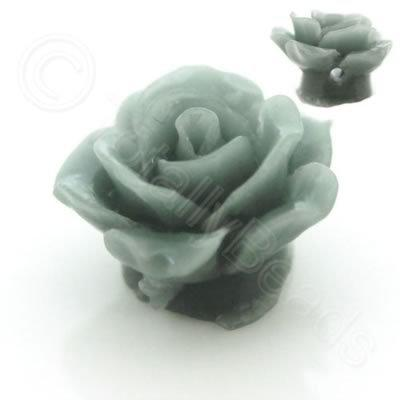 Acrylic Rose15mm 1 Row - Light Grey  4pcs