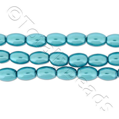 Glass Pearl Rice - Turquoise