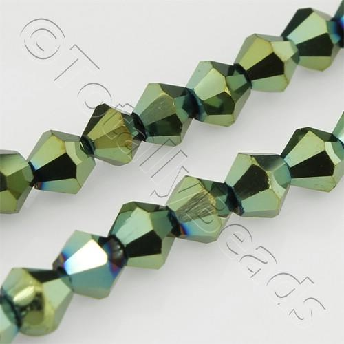 Crystal Bicone 4mm - Green Iris
