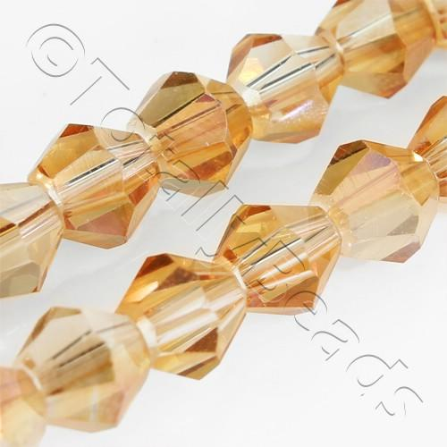 Crystal Bicone 6mm - Half Orange