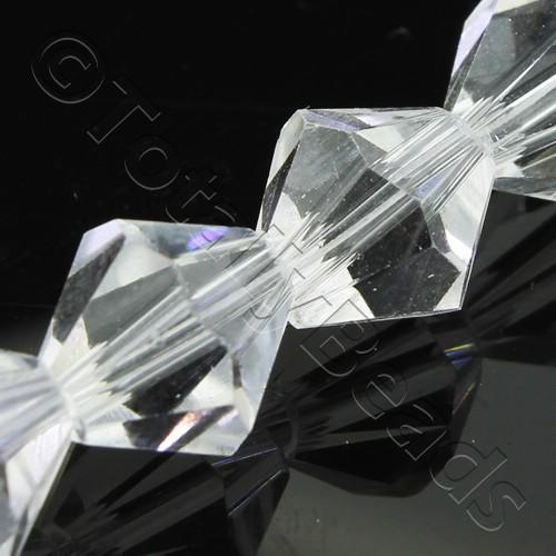 Crystal Bicone 10mm - Crystal 30pcs
