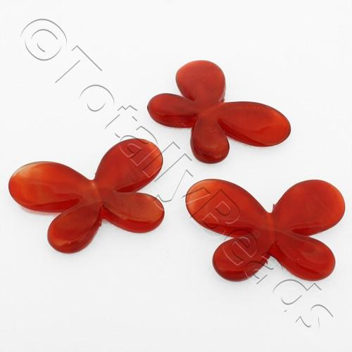 Acrylic Butterflies 32mm - Red 8pcs