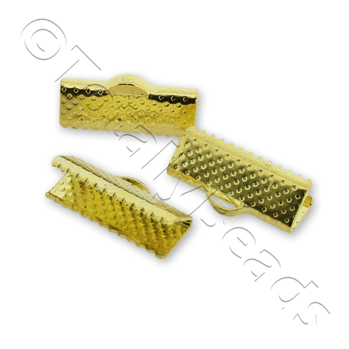 Crimp Connector 16mm - Gold Plated