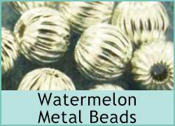 Watermelon Metal Beads
