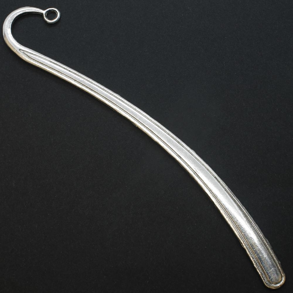 Antique Silver Metal Bookmark - Simple 120mm - A10567