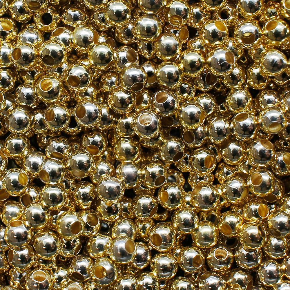 Spacer Beads - Gold Plated - 3mm