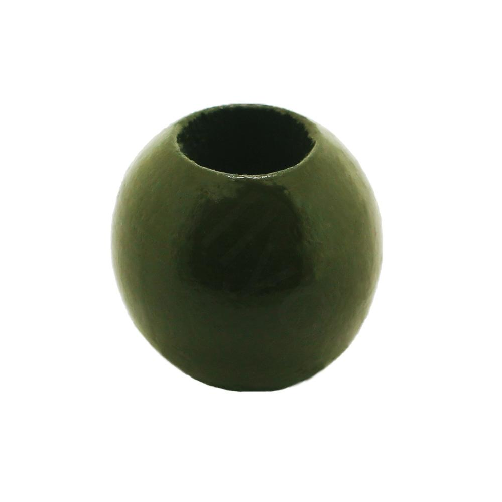 Wooden Bead - Round 20mm Olive