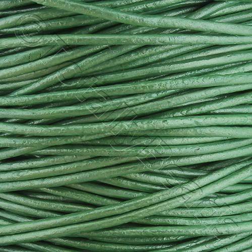 Leather Cord 1.5mm - Mint Green 1m length