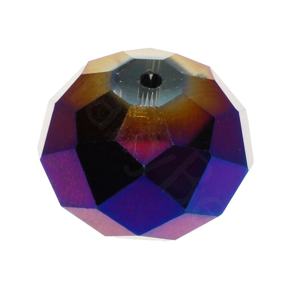 Crystal Rondelle 14x18mm - Purple Iris 1pc