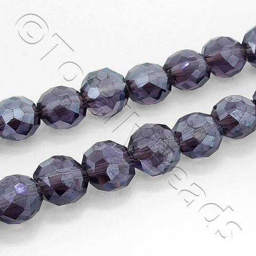 8mm Crystal Cushion Beads - Dark Purple 70pcs
