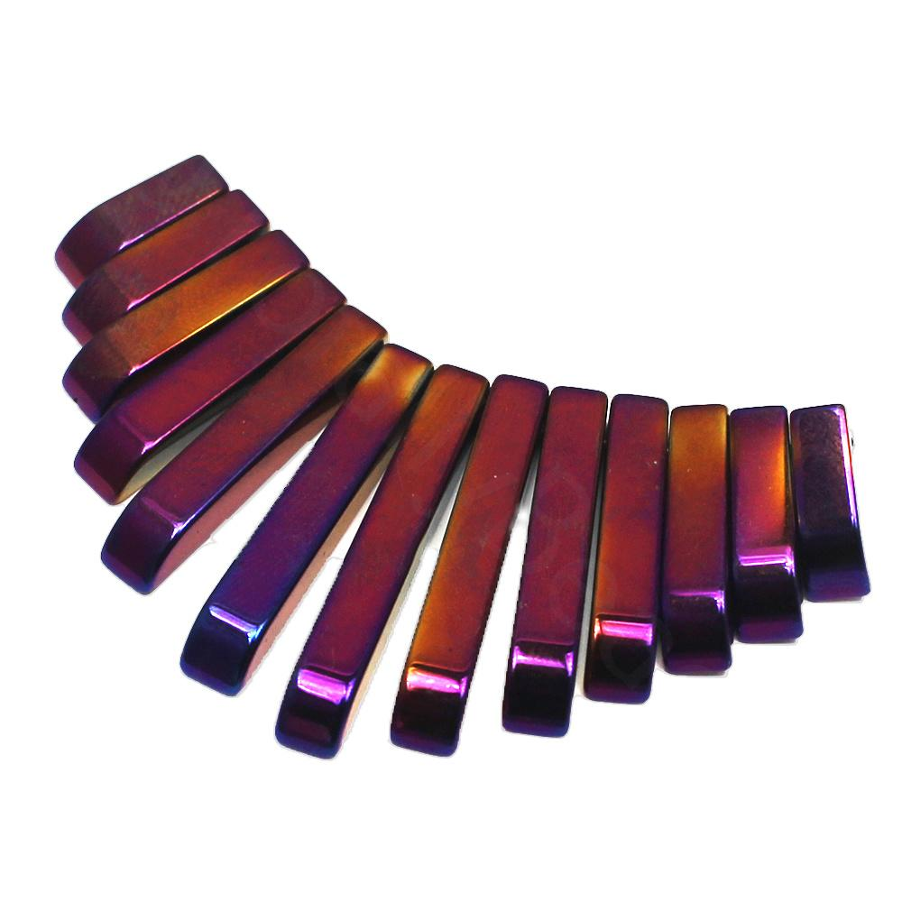 Hematite Egyptian Collar 13pc Purple Plated