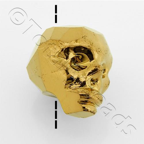 Crystal Skull Bead 13mm 1 Piece - Bronze