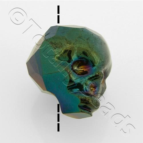 Crystal Skull Bead 13mm 1 Piece - Black Rainbow