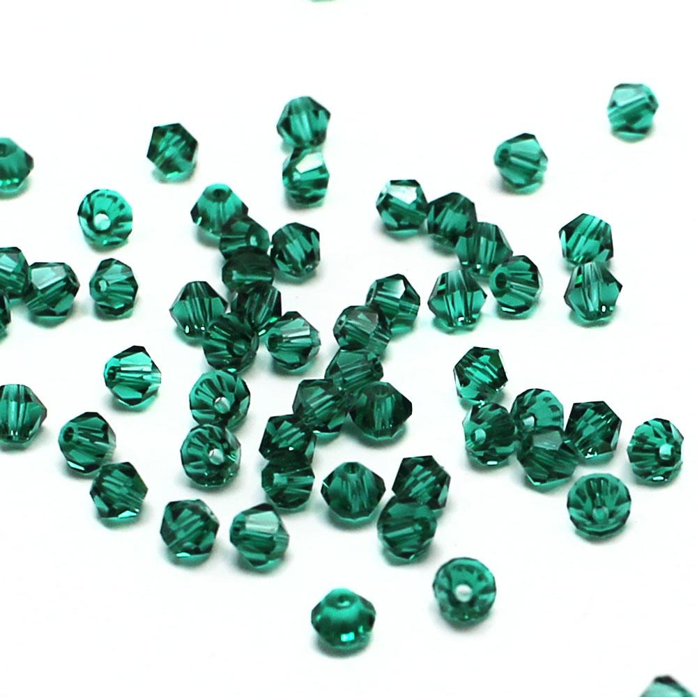 Emerald 4mm 100pcs