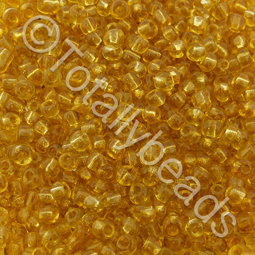 Seed Beads Transparent  Gold - Size 8