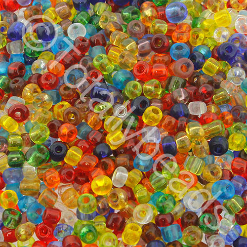 Seed Beads Transparent  Mixed - Size 11