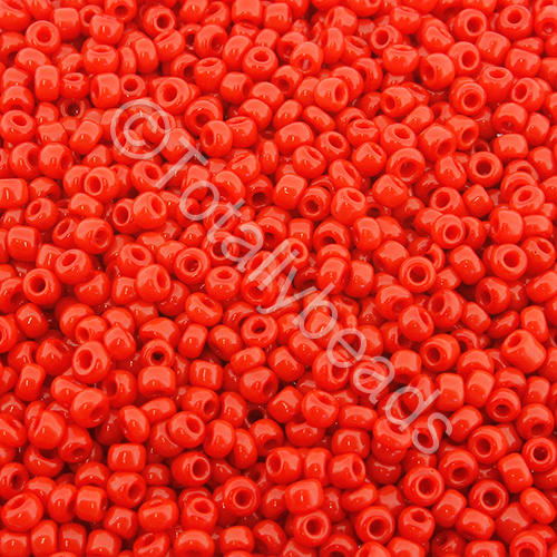 Seed Beads Opaque  Red - Size 11