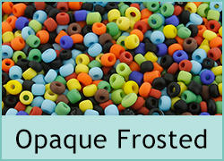 Opaque Frosted Seed Beads