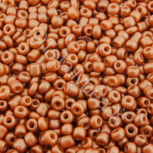 Seed Beads Metallic  Copper Frost - Size 8