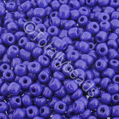 Seed Beads Opaque  Dark Blue - Size 6