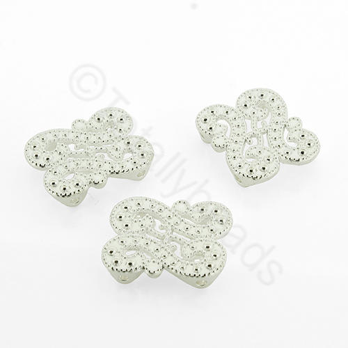 Silver Spacer Bar - Filigree S's 18mm - 8pcs