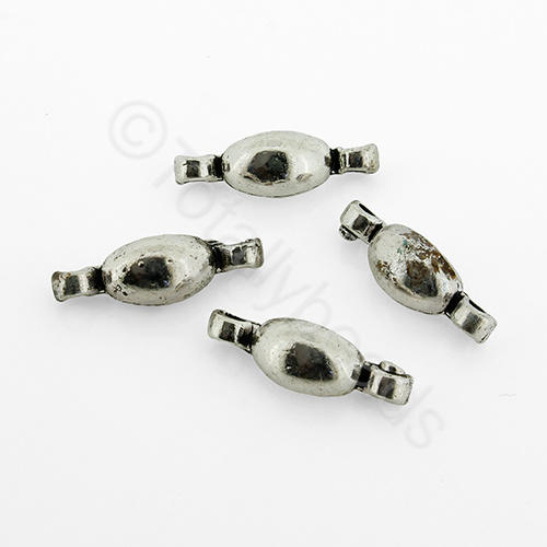 Tibetan Silver - Connector 2 Hole 18mm H658